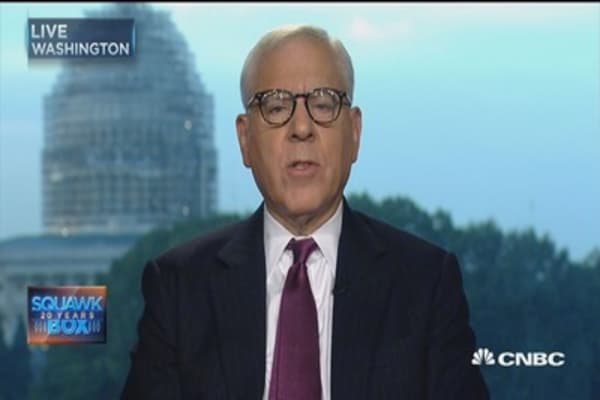 Fed unlikely to raise rates now: David Rubenstein