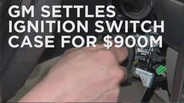 GM settles ignition switch case for $900M