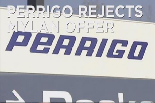 Perrigo rejects Mylan's bid