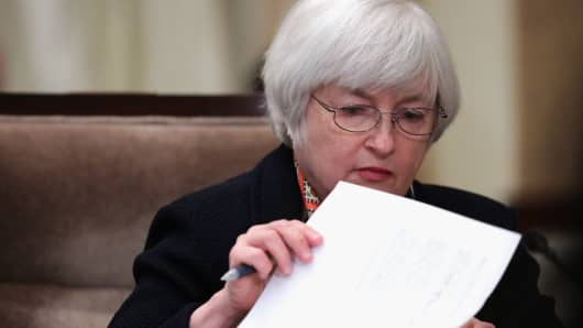 Chairman of Federal Reserve Board Janet Yellen.