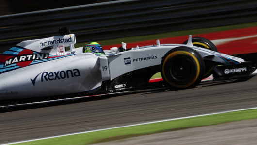 Formula One driver Felipe Massa who currently drives for Williams.