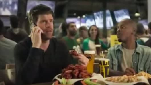 Steve Rannazzisi in a Buffalo Wild Wings video commercial