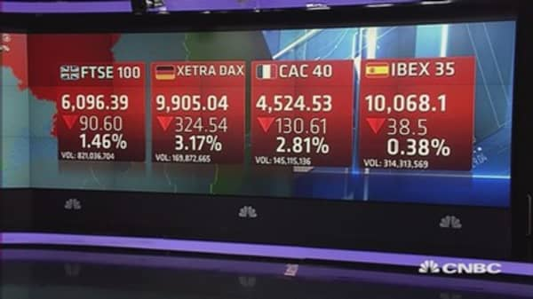 Grim day for Europe, as Dax edges closer to bear territory