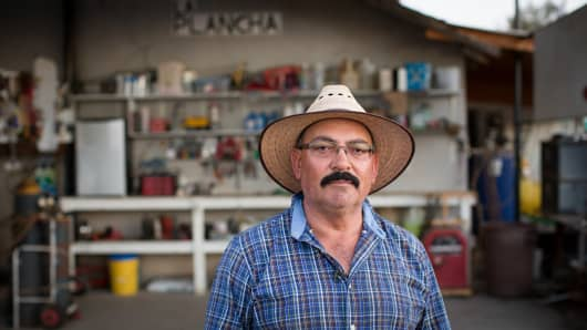 Jesus Ramos, citrus farmer in Tulare County, Calif.