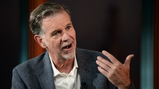 Bildresultat för netflix Reed Hastings trump