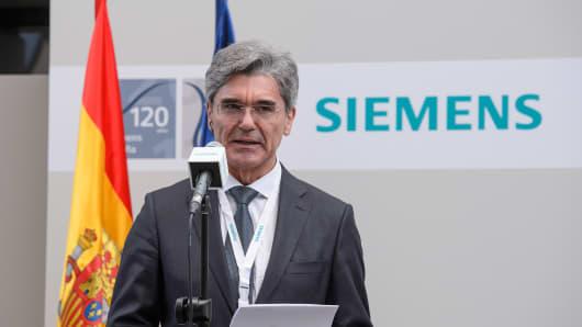 Joe Kaeser, President & CEO of Siemens