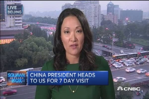 China's president heads to US for 7 day trip