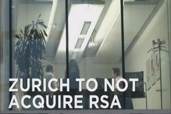 Zurich's plan to acquire RSA is a no-go