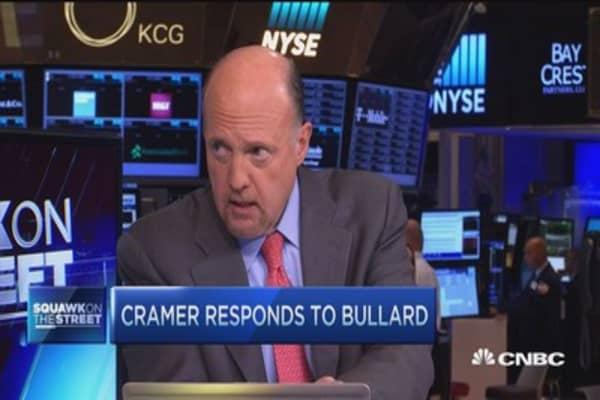 Cramer responds to Fed's Bullard