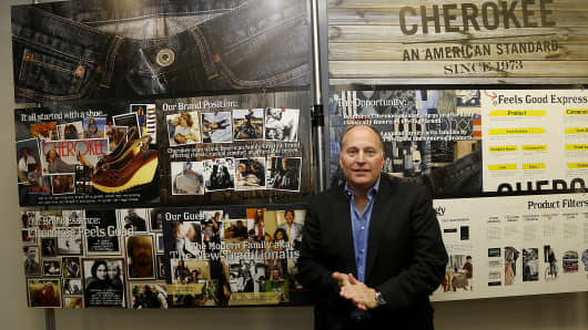 Henry Stupp, CEO of Cherokee Inc. of Sherman Oaks (CHKE) which markets, manages and licenses worldwide apparel, footwear, home and accessory brands it owns. Brands include Cherokee, Sideout, Liz Lane, Carole Little, All That Jazz, Chorus Line, and others.