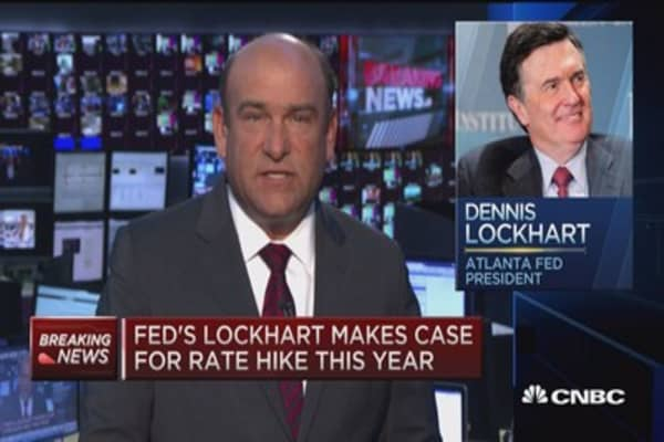 Fed's Lockhart makes case for rate hike 2015