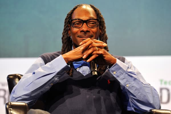 Recording artist Snoop Dogg speaks onstage during day one of TechCrunch Disrupt SF 2015 at Pier 70 on September 21, 2015 in San Francisco, California.