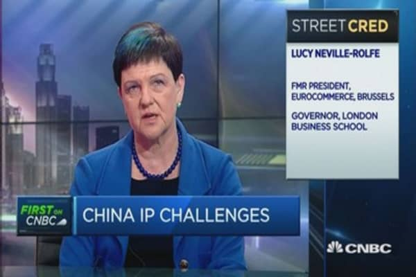 UK min: When it comes to IP, China is improving