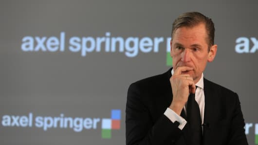 Mathias Doepfner, chief executive officer of Axel Springer.