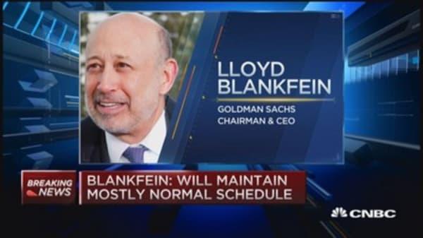 Lloyd Blankfein discloses Lymphona diagnosis
