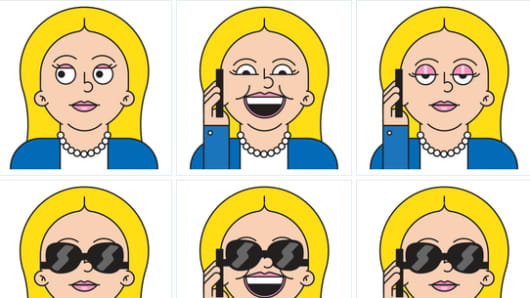 Hillary Clinton Android emojis.