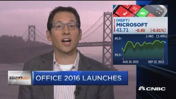 Microsoft Office 2016 'leapfrogging' Google: CMO