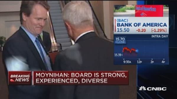 BofA shareholders let Moynihan keep CEO, chairman roles