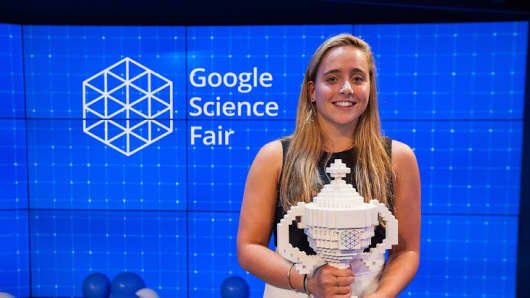 2015 Google Science Fair Grand prize winner Olivia Hallisey, 17, from Connecticut, created a portable, inexpensive diagnostic test for Ebola that doesn't require refrigeration.