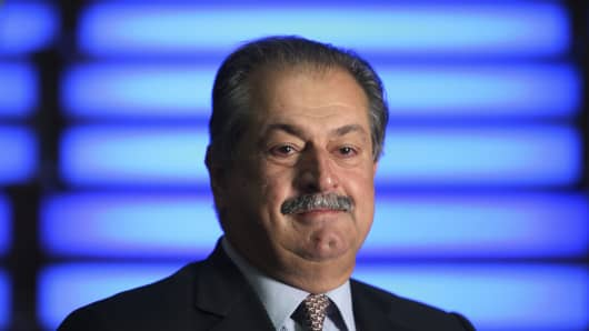 Andrew Liveris, president and chief executive officer of Dow Chemical Co., poses for a photograph in London, U.K., on Thursday, Aug. 9, 2012.