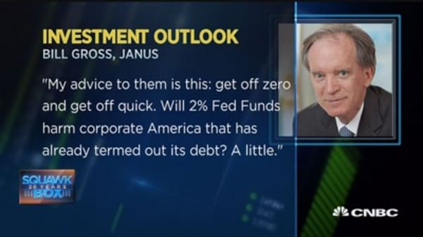 Bill Gross to Fed: Get off zero, get off quick