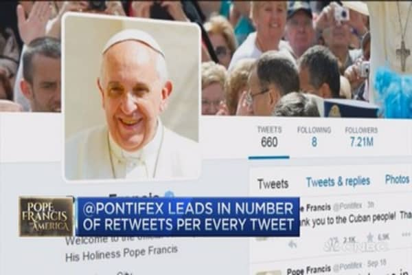 How the pope ranks on Twitter