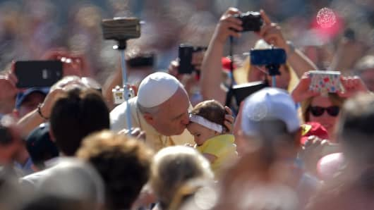 Wireless companies have beefed up their networks ahead of Pope Francis' visit to the U.S.