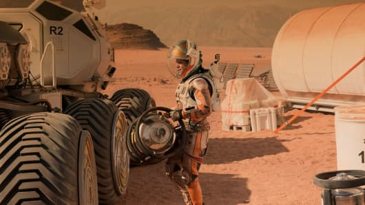 A scene from the film The Martian starring Matt Damon.