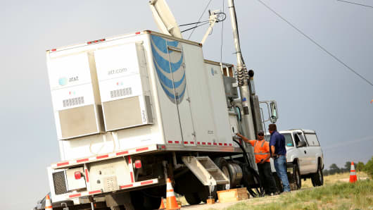 ATT&T is using  temporary portable cell sites known as COWs, or Cell on Wheels, for the pope's visit.