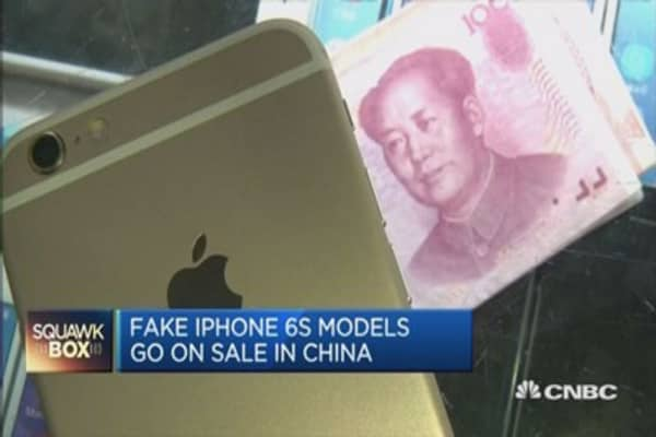 Fake iPhone 6S on sale in China