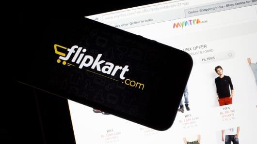 Flipkart's application loading page.