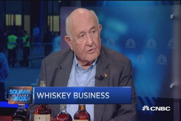 Skyrocketing whiskey demand boosts booze sales