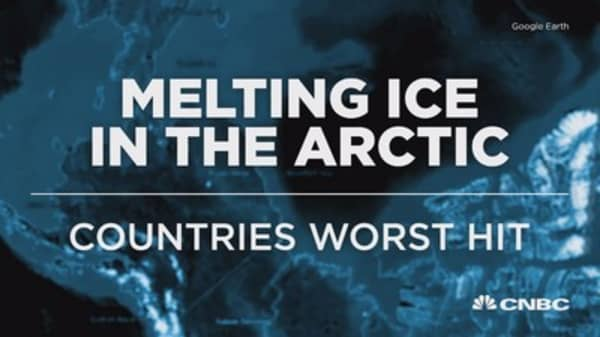Countries hit by Arctic melt