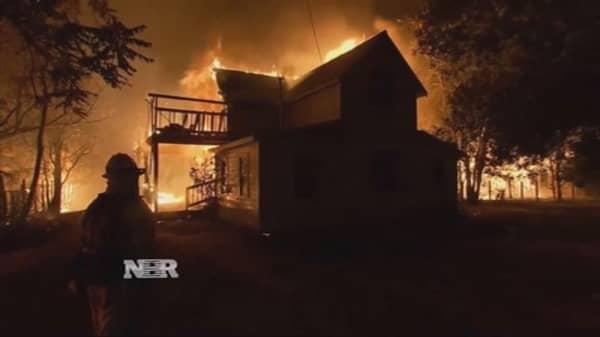 California vineyard fires