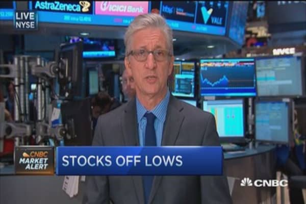 Markets midday: Buyers strike, not sellers panic