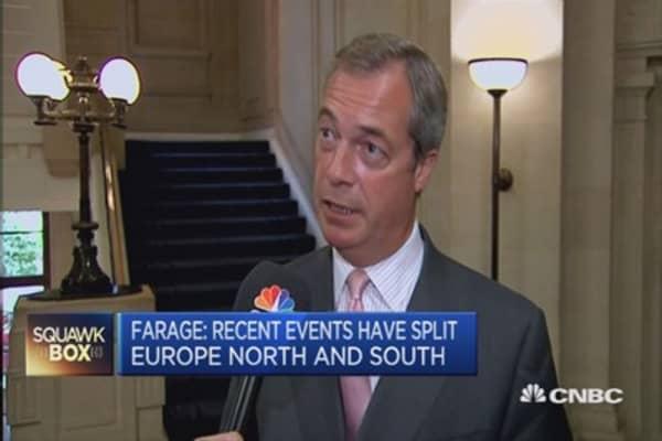 Migrant crisis dividing EU: UKIP's Farage