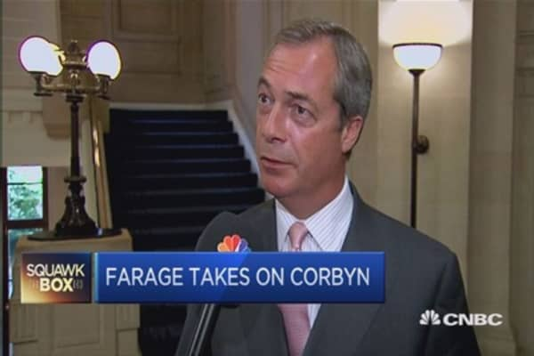 I have nothing in common with Corbyn: UKIP's Farage