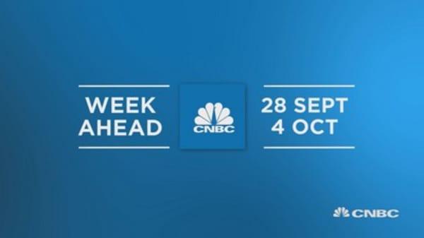 Week ahead 28th Sept