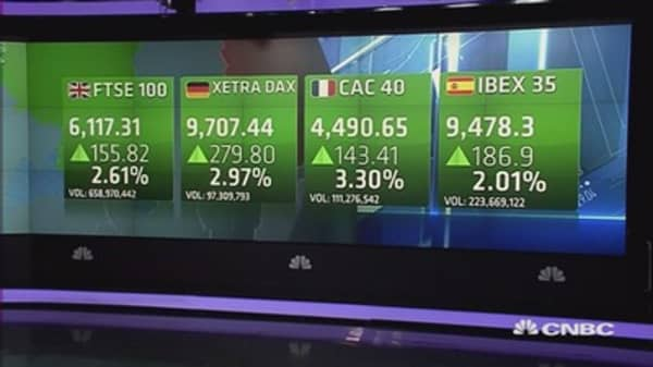 Europe ends sharply up; VW scandal, Yellen in focus