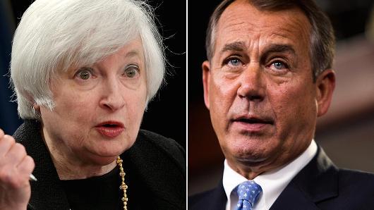 Janet Yellen and John Boehner
