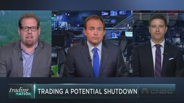 Trading a potential shutdown
