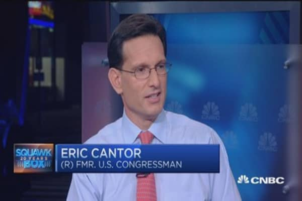 Eric Cantor: 'Stunned' by Boehner's departure