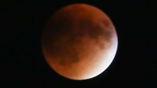 Super blood moon seen on Sept. 27, 2015.