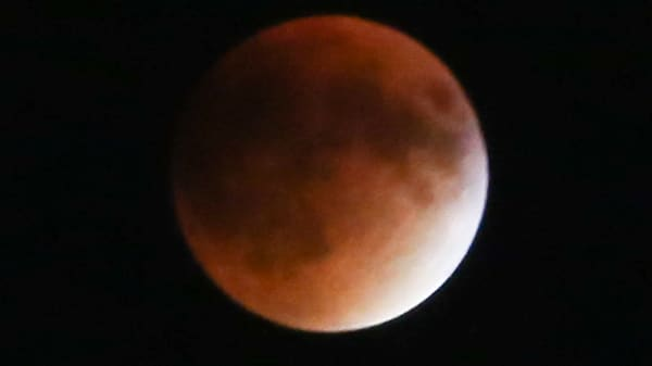 Super blood moon seen on Sept. 27, 2015.