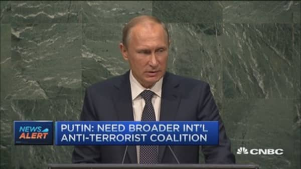 Putin: Need broader international anti-terrorist coalition