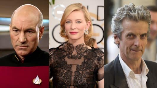 Patrick Stewart, Cate Blanchett, Peter Capaldi