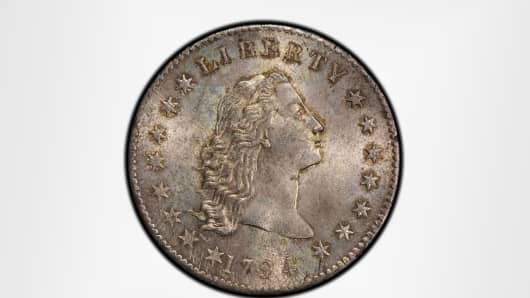 The first American dollar, from 1794.