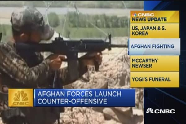 CNBC update: Afghan forces launch counter-offensive