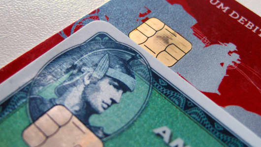 Computer chips on newly-issued credit cards