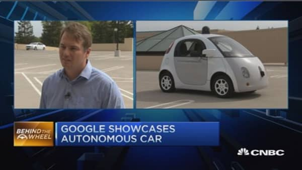 Google autonomous car test drive